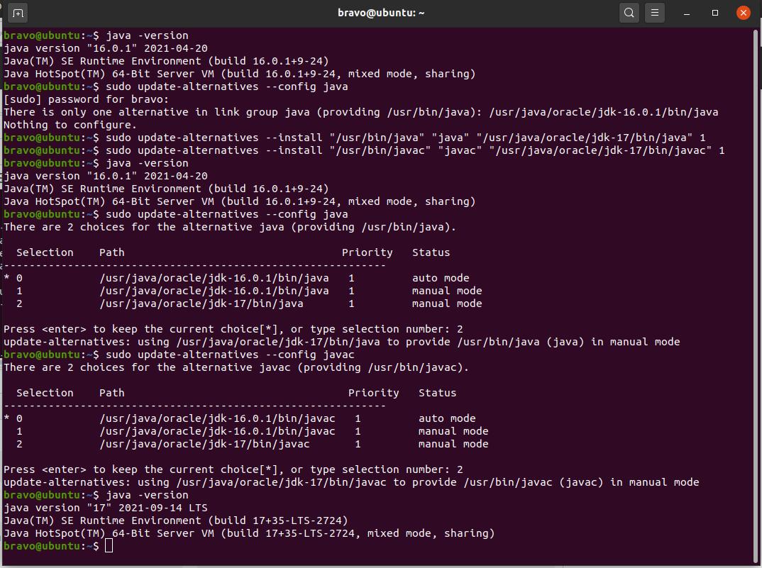 Install Java 17 or JDK 17 on Ubuntu 20.04 LTS - Configure Java