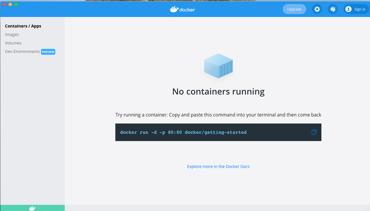 Install Docker Desktop on macOS -Containers