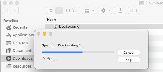 Install Docker Desktop on macOS - Open Image Progress