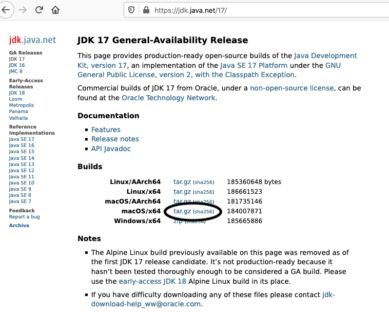 Install OpenJDK 17 or JDK 17 on macOS - Download Options