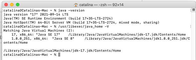 Install OpenJDK 17 or JDK 17 on macOS - Check Installed JDKs