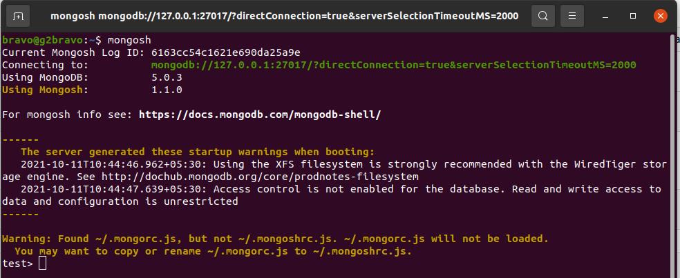 Install MongoDB 5 on Ubuntu 20.04 LTS - mongosh