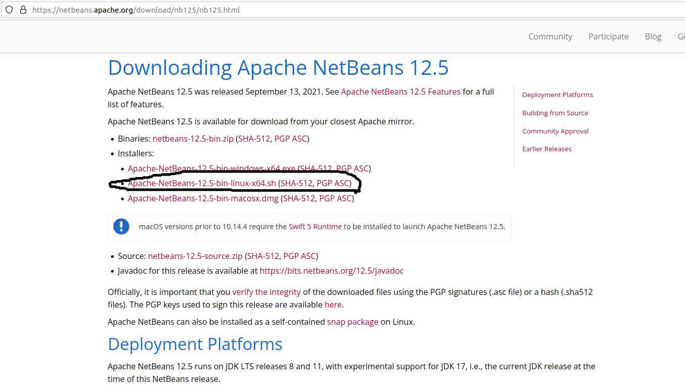 Install NetBeans 12 for PHP On Ubuntu 20.04 - Download
