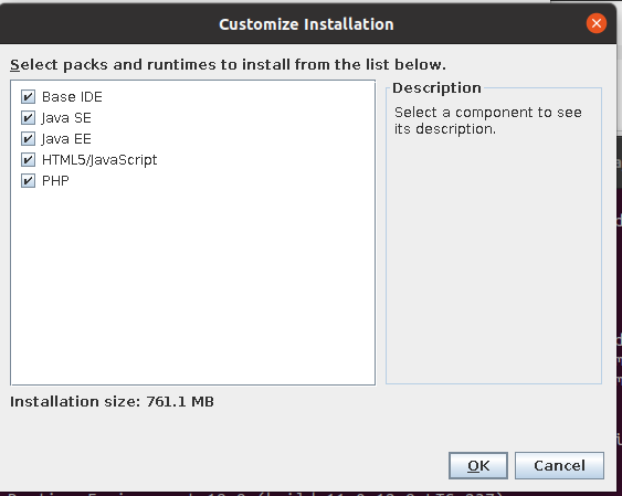 Install NetBeans 12 for PHP On Ubuntu 20.04 - Installer - Customize Options