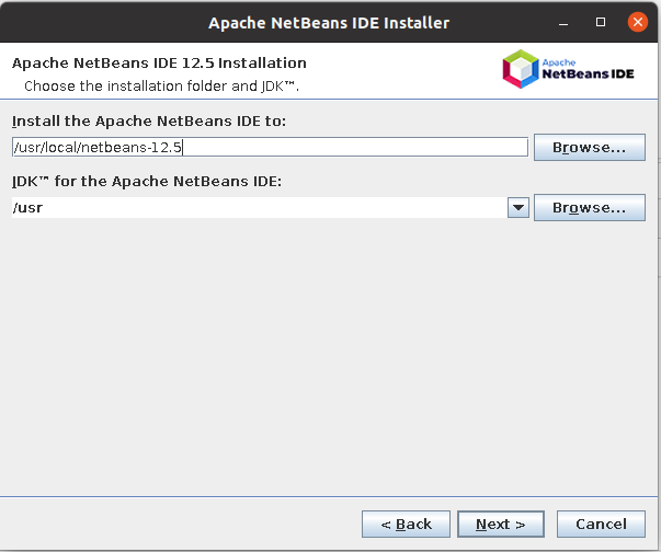 Install NetBeans 12 for PHP On Ubuntu 20.04 - Installation Path